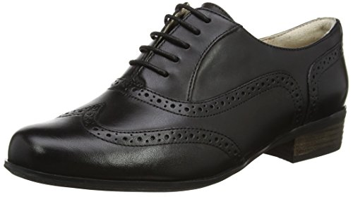 Clarks Hamble Oak, Zapatos de Cordones Derby para Mujer, Negro (Black Leather),...