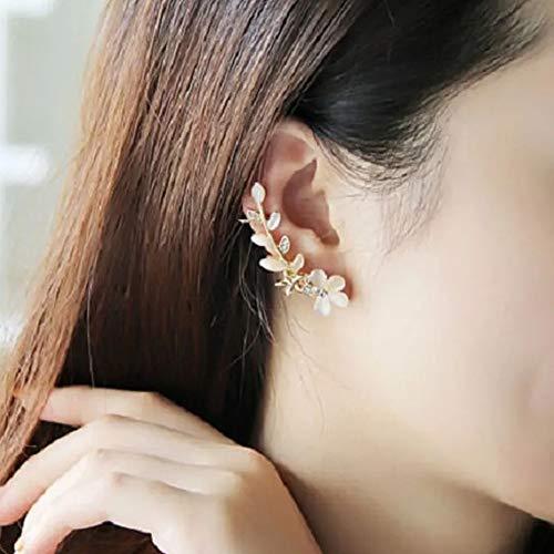 [PetitCeleb]イヤーカフパールラインレディースフェイクピアス両耳桜風イヤリング花びらゴールド人気大人女性ノンホールピアスイヤカフクリップおしゃれイヤーカフス