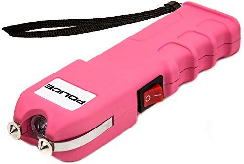 POLICE Stun Gun 928 - 59 Billion Heavy Duty Rechargeable with LED Flashlight, Pink