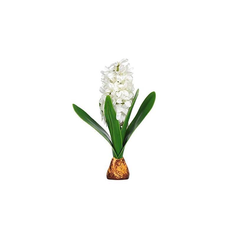 silk flower arrangements beautiful home table plant gifts garden decor hyacinth with bulb artificial flower simulation leaf wedding decoration