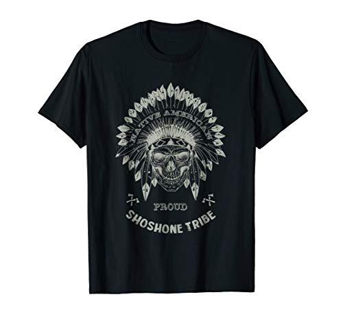 Shoshone Tribe Native American Indian Respect Skull T-Shirt T-Shirt