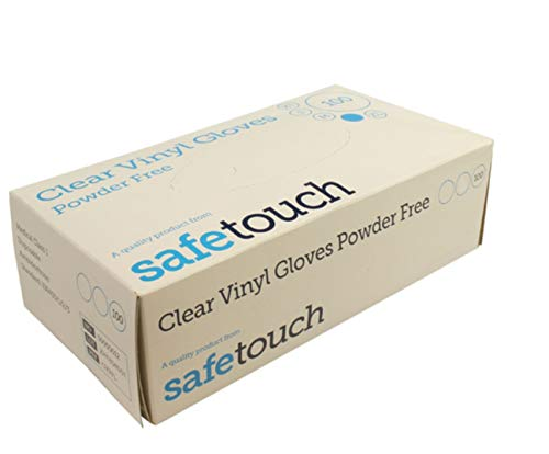 SafeTouch 50000011 Vinylhandschuhe, puderfrei, transparent, Größe M, 100 Stück