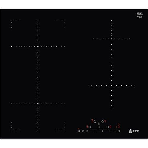 Neff T46FD53X0 plaque Noir Intégré Plaque avec zone à induction - Plaques (Noir, Intégré, Plaque avec zone à induction, Verre, 1400 W, Rectangulaire)