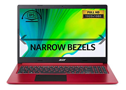 Acer Aspire 5 A515-55 15.6 inch Laptop - (Intel Core i5-1035G1, 8GB RAM, 512GB SSD, Full HD Display, Windows 10, Red) - Amazon Exclusive