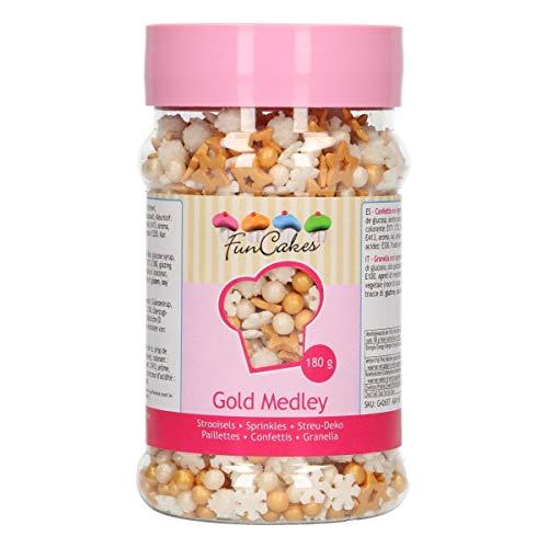 FunCakes Sprinkle Medley Oro: Sprinkles para Tartas, Gran Sabor, Perfecto para Decorar...
