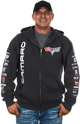 JH DESIGN GROUP Chevy Camaro Herren Hoodies Reißverschluss und Pullover Sweatshirts 4 Styles - grau - Medium