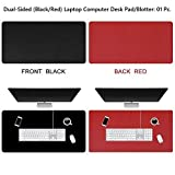 NJ PU Leather Dual-Sided Non Slip Extended Gaming Waterproof Blotter and Laptop Desk