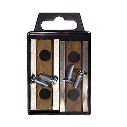 ATIKA Ersatzteil | 2x Messer (Wendemesser) mit Verschraubung komplett für Gartenhäcksler/Messerhäcksler