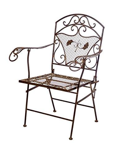 aubaho Nostalgia sillón de jardín de Hierro de 15 kg Silla de jardín Sillón Silla