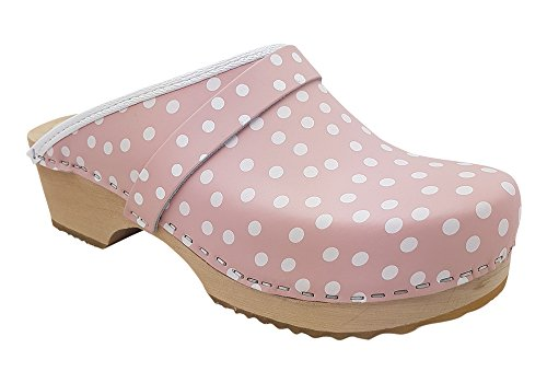 MB Clogs Standardclogs rosa mit weißen Punkten