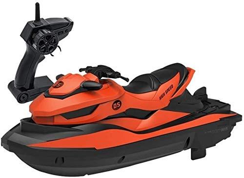 XHCP Radio Fernbedienung Motorboot RC Boot für Kinder Wasserdichter Stunt Wiederaufladbares Kinderspielzeug Jet-Ski 2,4...
