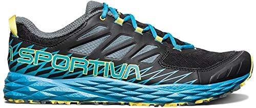 La Sportiva Lycan Trail Running Shoe - Men's, Black/Tropic Blue, 42.5, 36K-999614-42.5