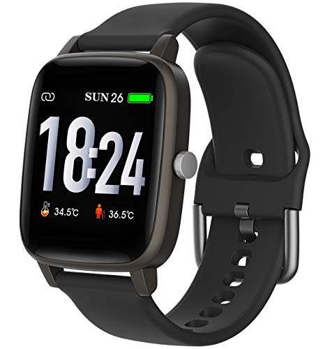 Smart Watch,  Body temperature Smartwatch, Fitness Tracker with Heart Rate Blood Pressure,Blood Oxygen, Sleep...