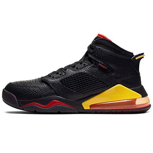 Jordan Mars 270 Cd7070-009 - Zapatillas de baloncesto para hombre, negro (Black/Black-team Orange-amarillo), 44.5 EU