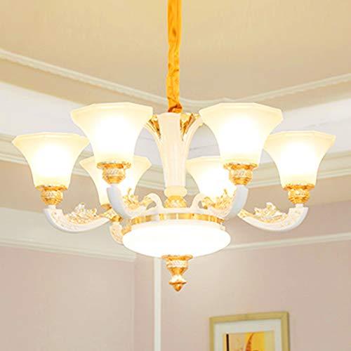 Hmvlw candelabro Villa Duplex de Lujo lámpara de Cristal Art Deco Comedor Dormitorio de la lámpara E14 (Size : D80cm*H42cm)