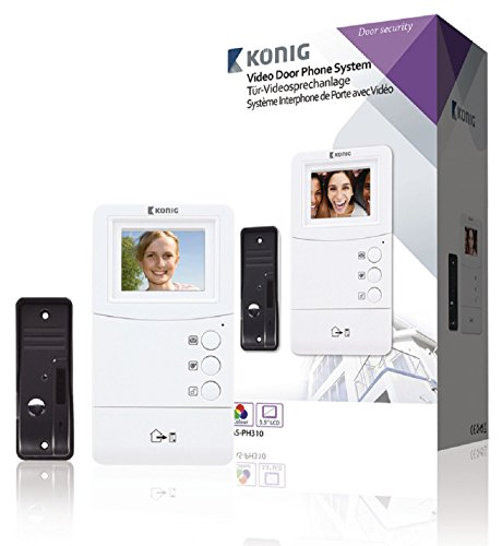 König SAS-PH310 sistema de intercomunicación de video - sistemas de intercomunicación de video (Negro, Color blanco)