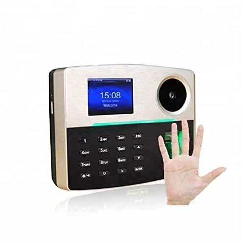 HEQIE-YONGP Timeuhren für Mitarbeiter Kleinunternehmen Biometrische Palm und Fingerabdruck-Zeiterfassung und Zutrittskontrollsystem mit POE (Optional)