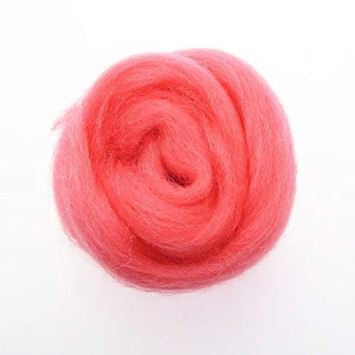 Qitao Wollfilz 86 Farben 5g / 10g / 20g / 50g / 100g Filzwolle-Filz Stoff Filz Craft Spielzeug Filzwolle Handgemachte Filzen Craft (Color : 28, Size : 100g)