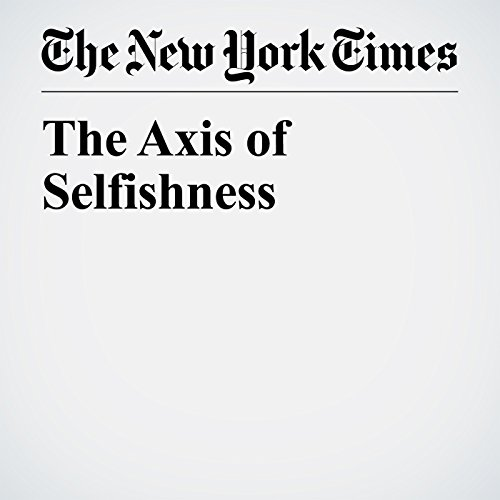 The Axis of Selfishness audiobook cover art