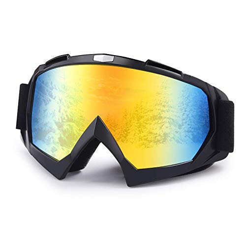 Dirt Bike Goggles,Anti-Fog Motorcycle Goggles,Adjustable UV Protective Ski Goggles with OTG