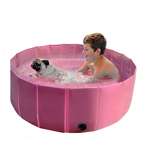 XBSLJ Bañera Plegable Piscina para Mascotas, bañera para Mascotas, Piscina para Mascotas Plegable, Piscina para bañera Plegable de PVC, 47.2413.39 Pulgadas