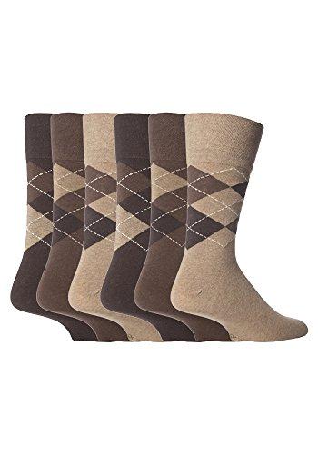sockshop Gentle Grip Herren Socken Braun braun Large