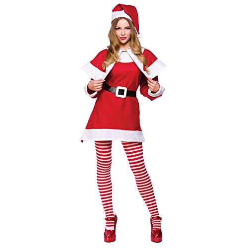(O) Ladies Budget Mrs Santa Claus Christmas Costume Nativity Panto Fancy Dress Women