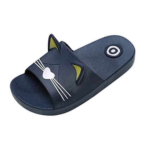 luoluo pantoffels jongens meisjes flip flops schattige kat pantoffel slippers slippers voor binnen strandschoenen vloerschoenen cadeau voor kinderen jongens meisjes schoenen maat 23-34
