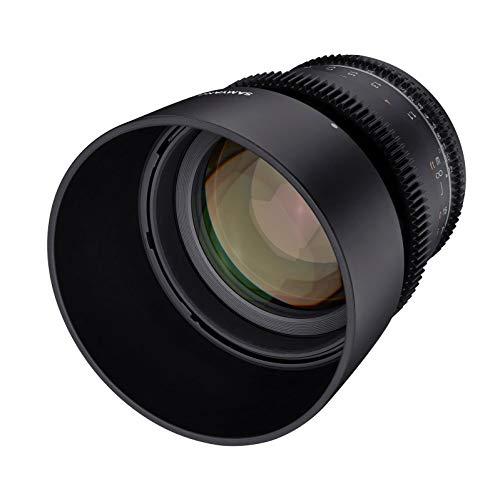 Samyang MF 85mm T1,5 VDSLR MK2 Canon EF – lichtstarkes T1,5 Tele Cine- und Video Objektiv für Canon EF Mount, 85 mm Festbrennweite, Follow Focus Zahnkränze Vollformat und APS-C, 8K Auflösung