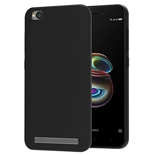 VGUARD Funda Xiaomi Redmi 5A Slim Fit Xiaomi Redmi 5A Funda Carcasa Case Bumper con Absorción de Impactos y Anti-Arañazos Espalda Case Cover para Xiaomi Redmi 5A - Negro