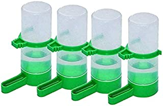 4 Pcs Pet Bird Plastic Drinker Feeder Waterer Clip for Parrots Parrot Feeder Automatic Water Drink Container Food Dispense...