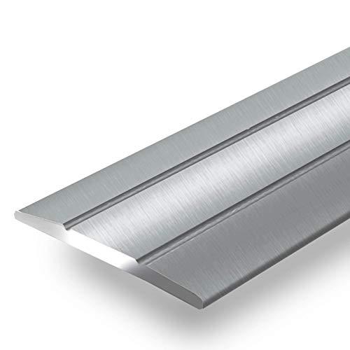 Alu Übergangsprofil Firm | C Form | selbstklebende Abdeckleiste für Fugen | Breite 36 mm | eloxiert Silber | 90 cm