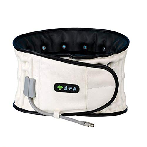 NTT Therapie & Physio Decompression 2 In 1 Back Belt-Waist Lower Lumbar Support Brace for Back Pain Relief Spinal Inflatable Traction,White