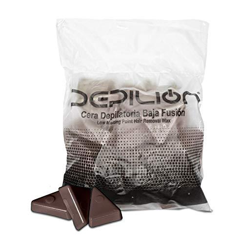 Cera caliente 1kg Chocolate | Cera baja fusión para depilación 1000gr | para pieles sensibles