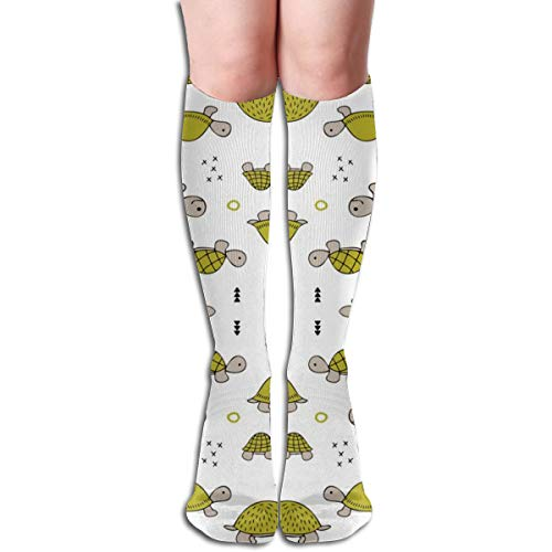 19.68 Inch Compression Socks Baby Turtle Mirror High Boots Stockings Long Hose For Yoga Walking For Women Man