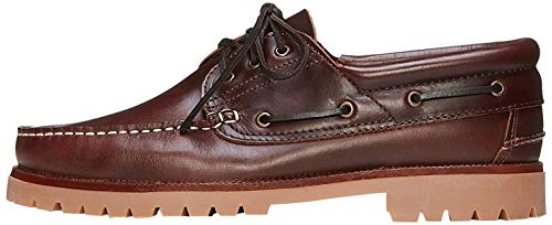 Amazon-Marke: FIND Chunky Leather Boat Shoe, Herren Segelschuhe, Braun (Cognac), 47 EU
