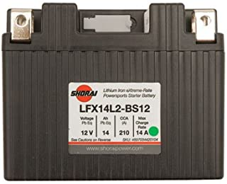 Shorai Lithium-Iron Battery LFX14A2-BS12 for Suzuki DR-Z 400E 2000-2007