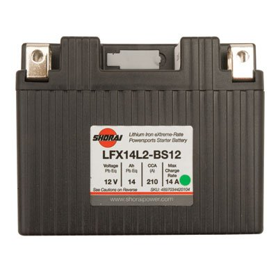 Shorai Lithium-Iron Battery LFX14A2-BS12 for Suzuki DR-Z 400SM 2005-2009