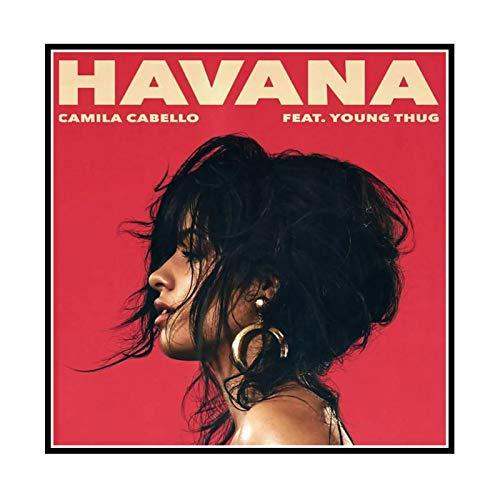 GUICAI Havanna Camila Cabello Feat Young Thug Leinwand Poster Bild Hintergrund Wanddekoration Home Wohnzimmer Dekoration -50X50 cm Kein Rahmen 1 Stck