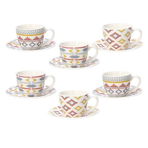 Tognana, Juego de 6 tazas de café con plato