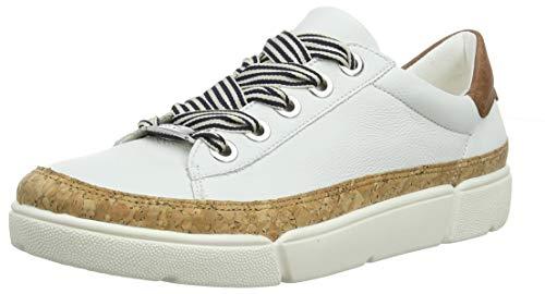 ARA Damen ROM 1214404 Sneaker, Braun (Weiss, Natur/Nuss 09), 38 EU
