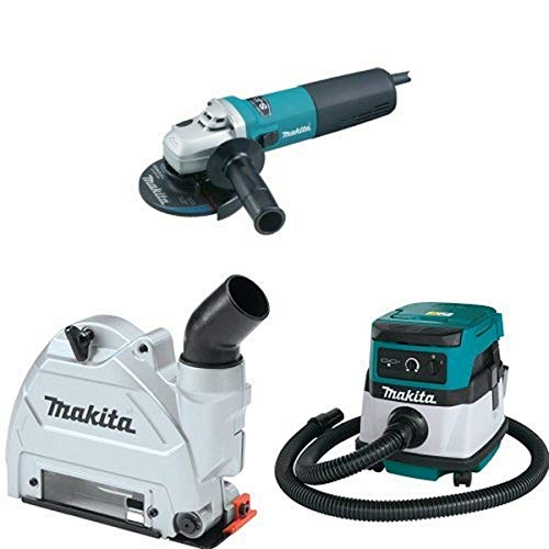 Best Price Makita 9565CV 5-Inch SJS High-Power Angle Grinder, 196846-1 Dust Extraction Tuck Point Gu...