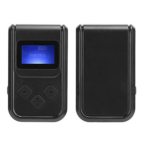 Mxzzand Adaptador de Pantalla Digital, Adaptador de música inalámbrico 2 en 1 función 3,5 mm AUX para Auriculares para Altavoz para el hogar