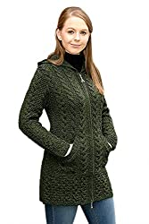 100% Merino Wolle Aran Crafts StrickJacke,