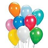 jingyuu 50Pcs Globos de Fiesta de Colores,Globo de cumpleaños,Decoraciones de Cumpleaños, Bodas o Fiestas(Color Aleatorio)