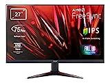 Acer Nitro VG270 - Monitor para Videojuegos (27', Full HD, 75 Hz, HDMI/DP, 60 Hz, VGA, 1 ms (VRB), 2 HDMI 1.4, VGA, HDMI/DP FreeSync