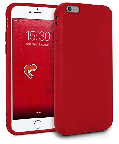 MyGadget Friendly Pocket Custodia TPU per Apple iPhone 6 Plus / 6s Plus - Case Morbida Bordi Rinforzati – Cover Silicone Antiurto e Antigraffio - Rosso