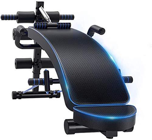 KMILE Banco de pesas ajustable para entrenamiento en el hogar, banco de pesas ajustable, placa muscular abdominal doméstica, ayuda de movimiento multifuncional para tonificar y entrenar fuerza