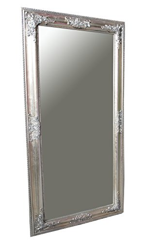 B.U.S. Wohnstyle GmbH Spiegel Wandspiegel Rachel antik Silber Barock 100 x 50 cm