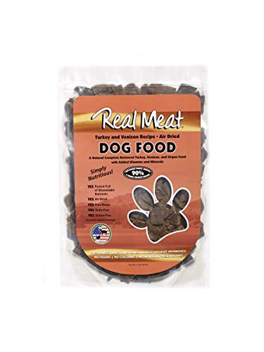 Real Meat Company Air Dried Turkey & Venison Dog Food, 2-Lb Bag